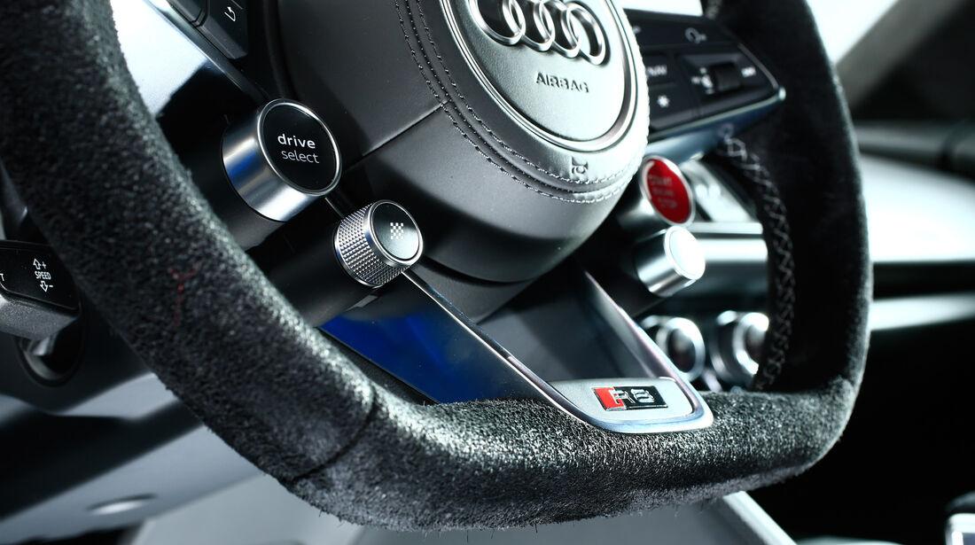 Audi R8 V10, Audi R8 5.2 FSI Quattro, Lenkrad, Bedienelemente