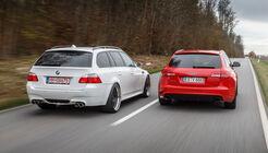 Audi RS 6 Avant, BMW M5 Touring, Heckansicht