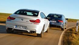 Audi RS 7  Sportback, BMW M6 Gran Coupé, Heckansicht