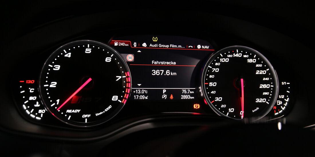 Audi RS 7 Sportback Performance, Anzeigeinstrumente