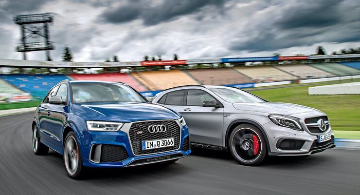 Audi Rs Q3 Performance Vs Mercedes Amg Gla 45 Im Test Auto Motor