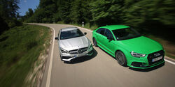 Audi RS3, Mercedes-AMG CLA 43, Fahreindruck, Front