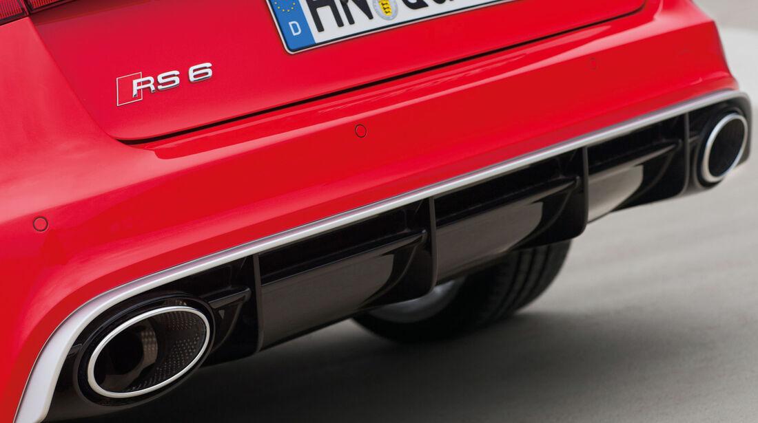 Audi RS6 Avant, Auspuff, Endrohre