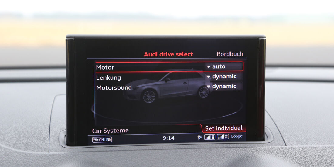 Audi S3 2.0 TFSI, Bordcomputer, Display