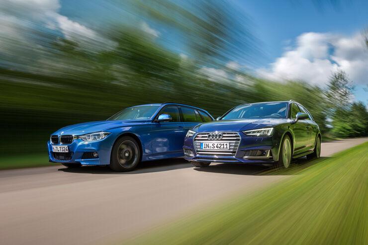 Audi S4 Avant 3.0 TFSI Quattro, BMW 340i xDrive Touring M Sport
