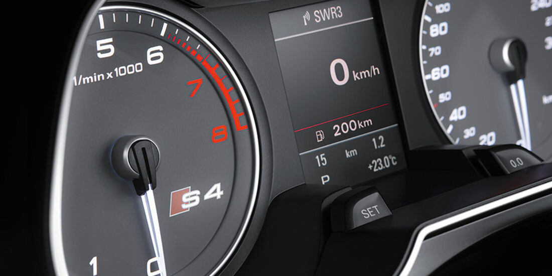 Audi S4 Modelljahr 2012, Innenraum, Instrumente