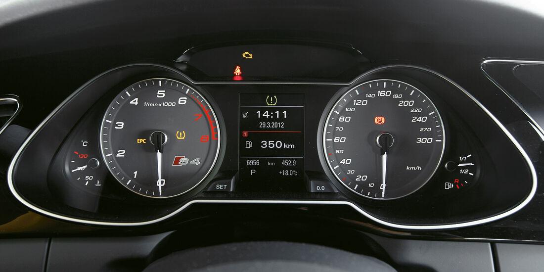 Audi S4, Tacho, Rundinstrumente