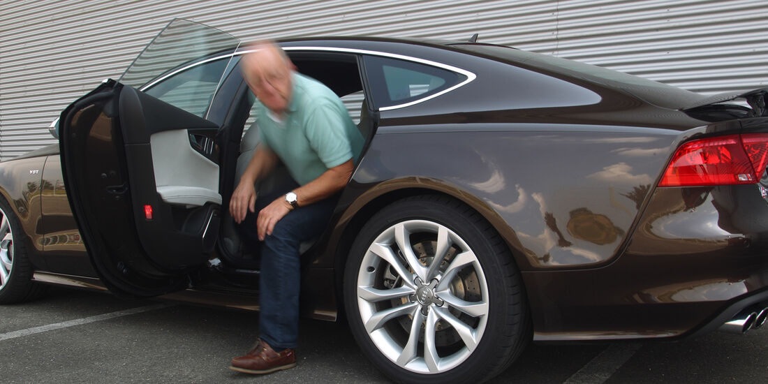Audi S7 Sportback, Einsteigen, Rücksitz