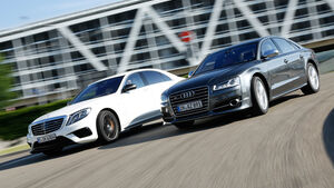 Audi S8, Mercedes S 63 4Matic, Frontansicht