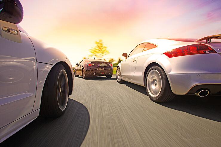 Audi TT, Peugeot RCZ, Subaru BRZ, Heckansicht