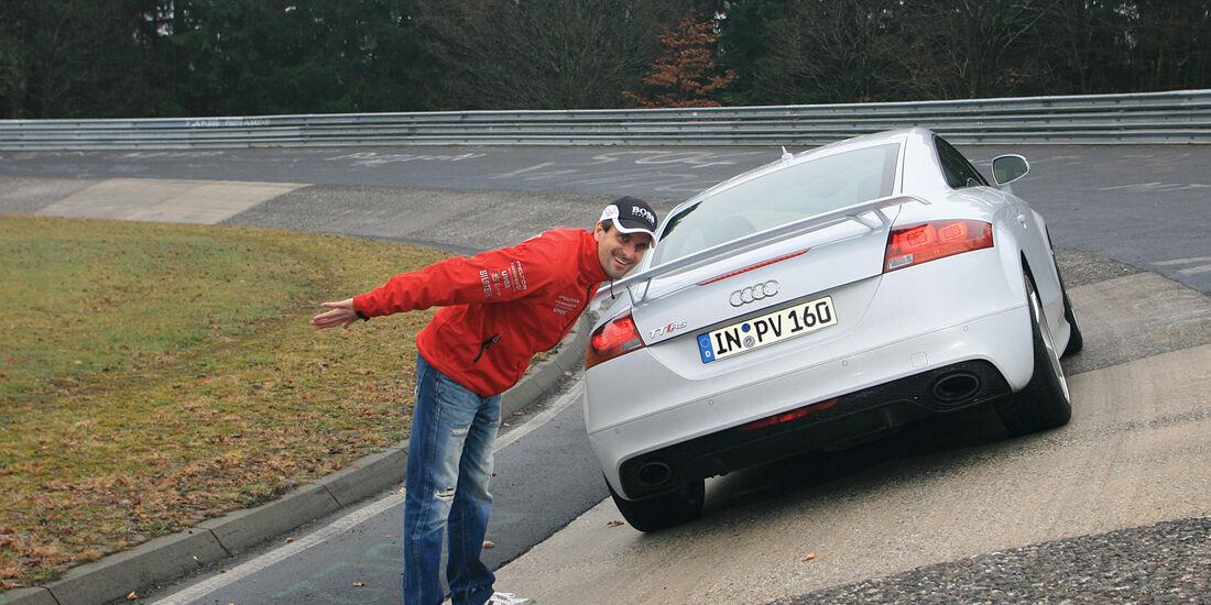 Audi TT RS, Heckansicht, Steilwand, Marcus Winkelhock