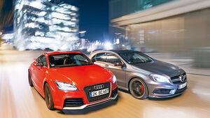Audi TT RS Plus, Mercedes A 45 AMG, Frontansicht