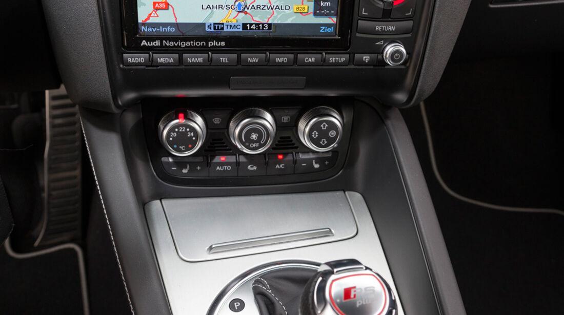 Audi TT RS Plus, Mittelkonsole