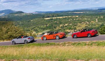 Audi TT RS Roadster, Mercedes-AMG SLC 43, Porsche 718 Boxster S Seite