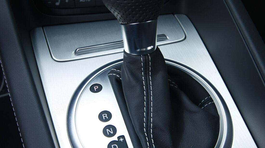 Audi TT RS S tronic, Ganghebel