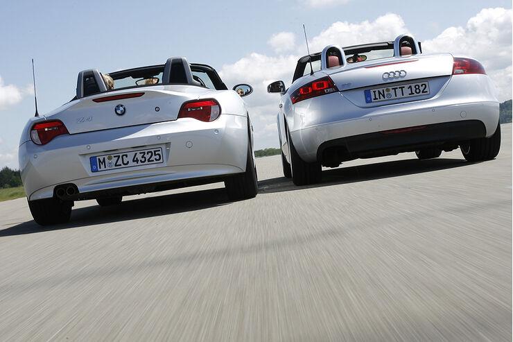 Audi TT Roadster 2.0 TFSI, BMW Z4 Roadster 2.5si