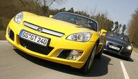 Audi TT Roadster 3.2, Opel GT