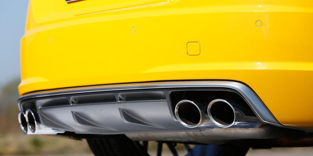 Audi TTS Coupé, Auspuff, Endrohr