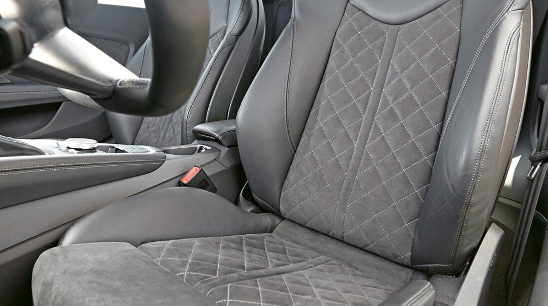 Audi TTS Coupé, Fahrersitz