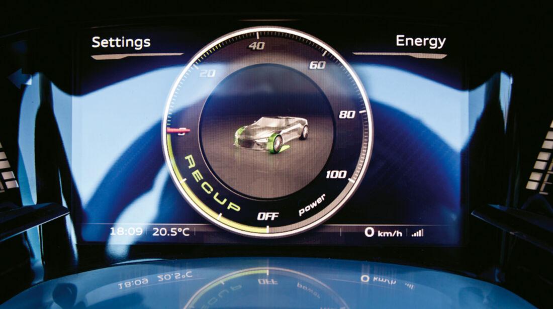 Audi e-tron Spyder, Anzeige, Rundinstrument