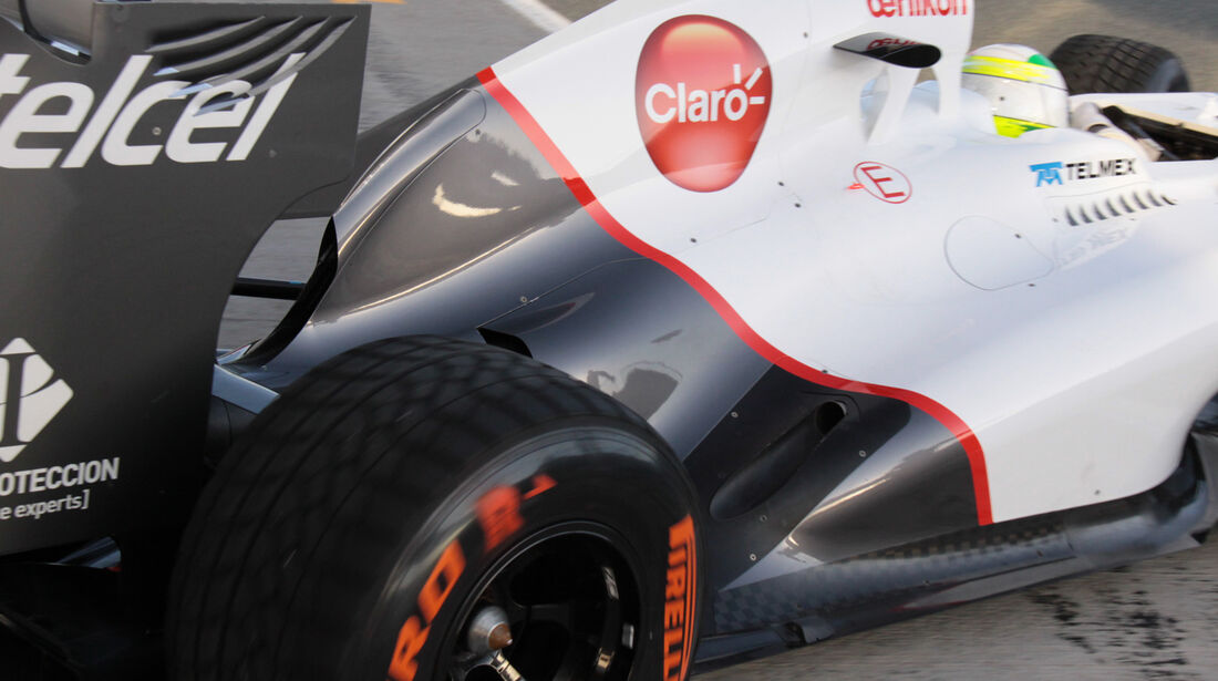 Auspuff Sauber Tests Update 2012