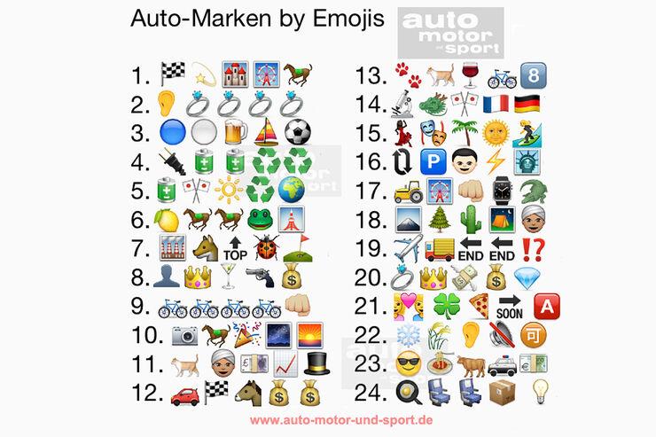 Auto-Marken by Emojis – die Auflösung: Können Sie das Emoji-Rätsel knacken?