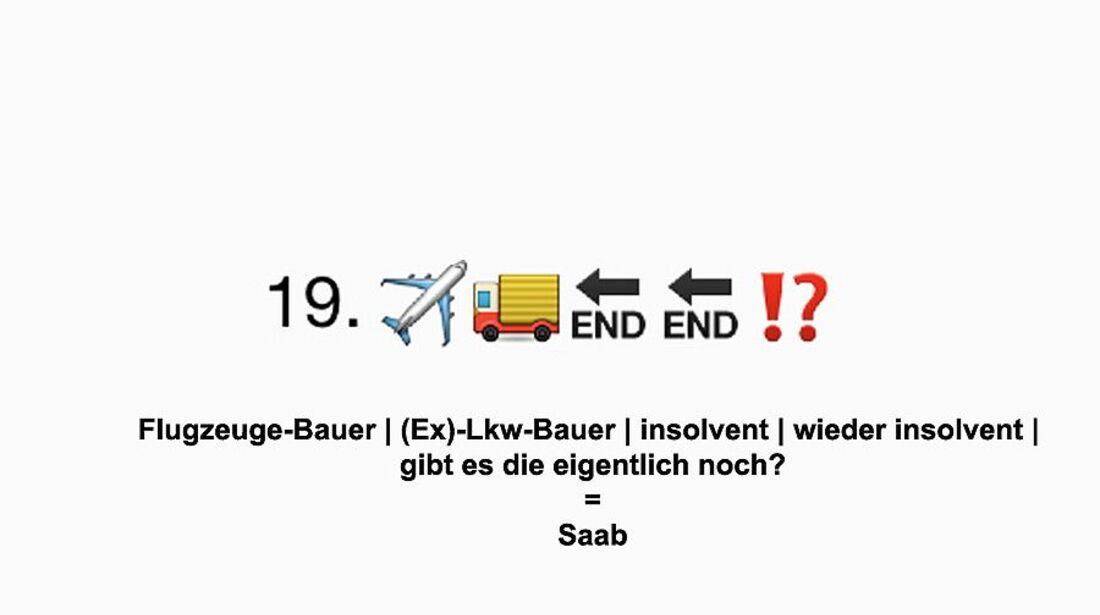 Auto-Marken Emojis Auflösung