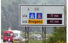 Autobahn Richtung Schweiz