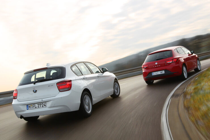 bmw 114i und seat le n 1 4 tsi im test spanien fordert. Black Bedroom Furniture Sets. Home Design Ideas