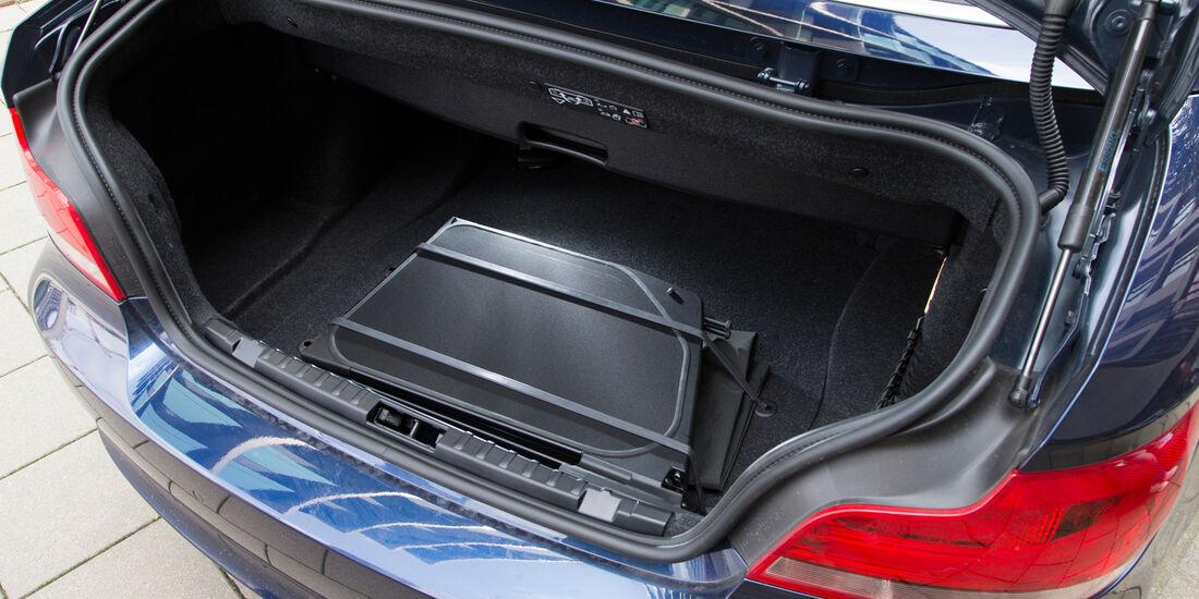 BMW 125i Cabrio, Kofferraum