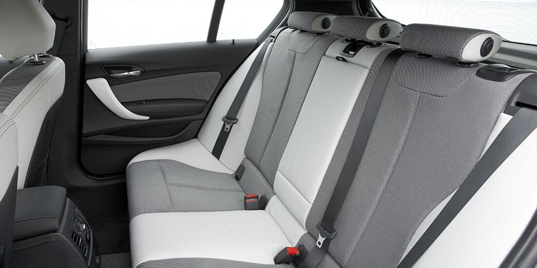 BMW 1er, 2011, Innenraum, Rücksitze, Urban Line