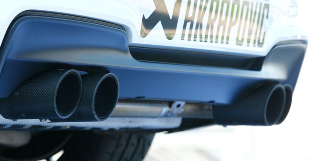 BMW 1er M Coupé, Endrohre, Auspuff