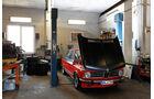 BMW 2002 tii Alpina, Motorhaube, Werkstatt