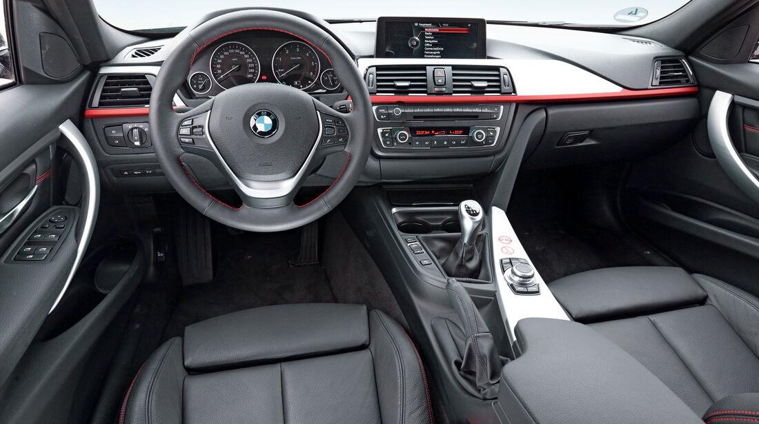 BMW 316d, Cockpit, Lenkrad