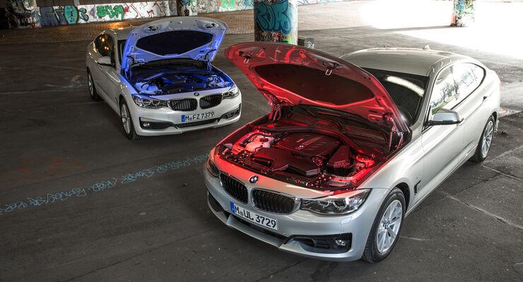 Motor Varianten Im Vergleich Bmw 318d Gt Und Bmw 325d Gt Auto