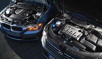 BMW 320d Touring, VW Passat 2.0 TDI Variant, Motoren