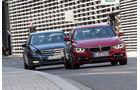 BMW 320i, Mercedes C 200, Frontansicht