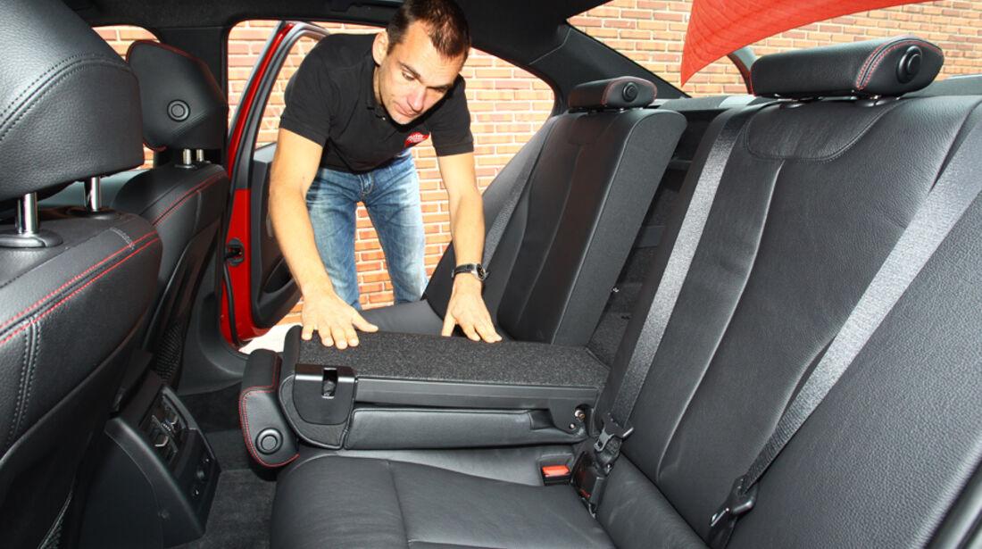 BMW 328i, Rücksitz, umklappbar