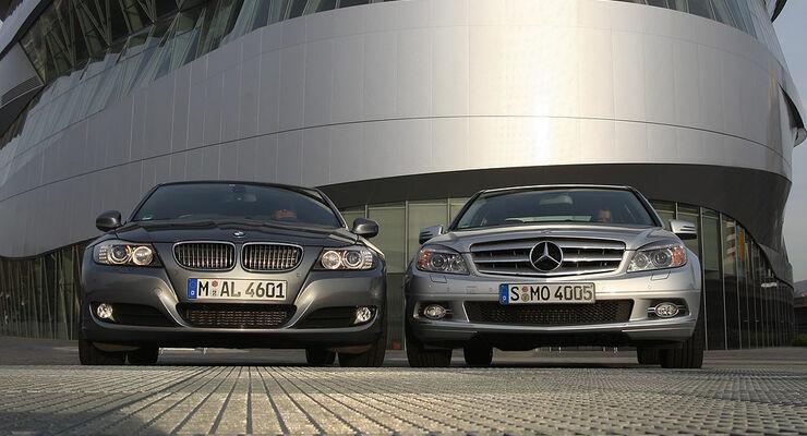 BMW 330d, Mercedes C 250 CDI