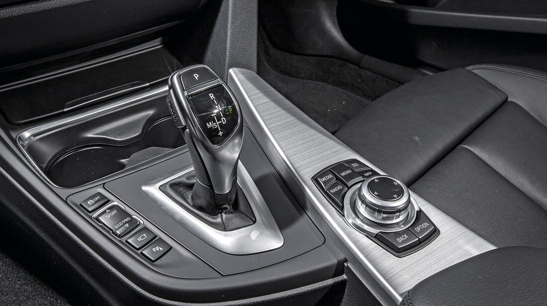 BMW 335i GT, Schalthebel, Bedienelemente