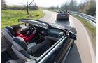 BMW 428i Cabrio, Mercedes E 300 Cabrio, Ausfahrt