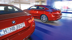 BMW 428i Coupé, Mercedes C 300 Coupé, Heck