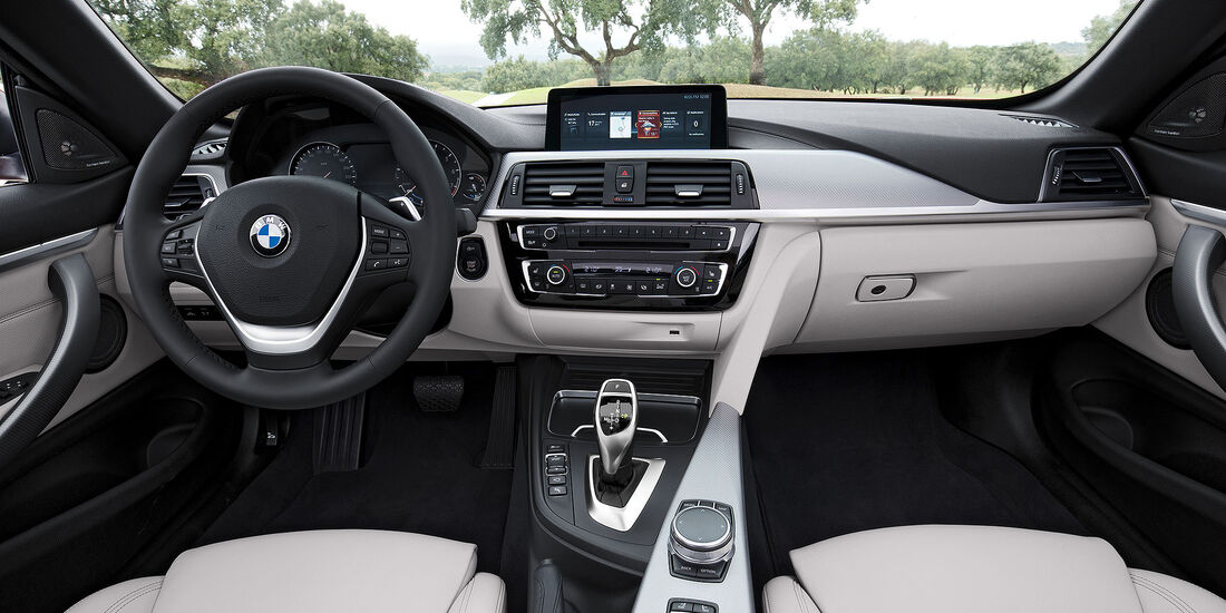 BMW 4er Cabrio Facelift (2017) Cockpit