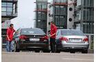 BMW 520d, Mercedes E 220 CDI, Heckansicht