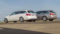 BMW 520i Touring, Mercedes E 200 T, Heckansicht