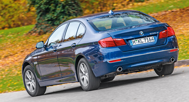 BMW 535d, Heckansicht