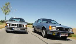 BMW 635 CSi, Opel Monza 3.0 E, Frontansicht