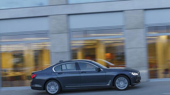 BMW 740i, Exterieur Seite