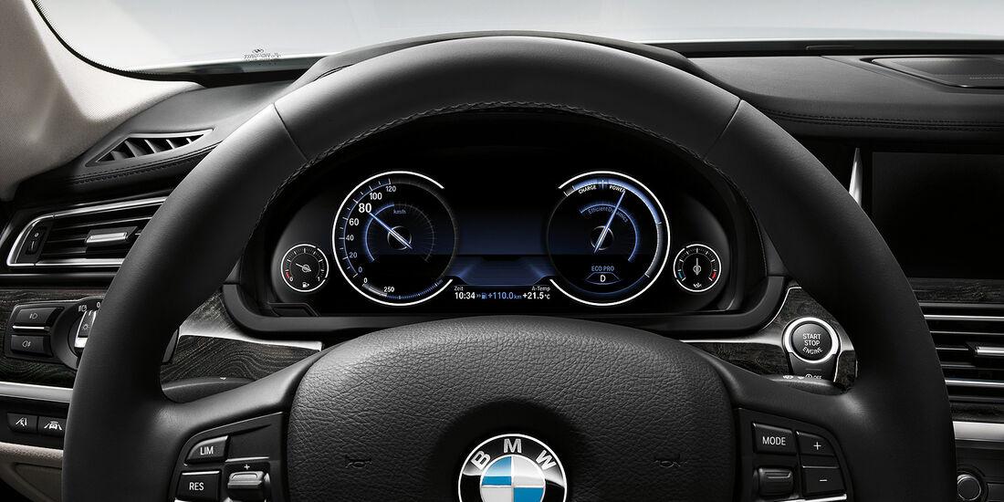 BMW 7er, Lenkrad, Instrumente