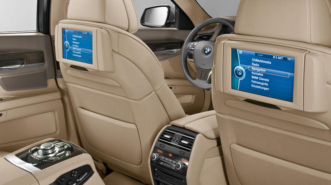BMW 7er, Rear-Seat-Entertainment, Bildschirm